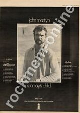 John Martyn Sunday's Child Nottingham University MM5 LP/Tour Advert 1975