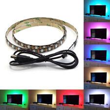 Luces Led Rgb Para Monitores Lcd Tv tira de LED luz de fondo 1M/2M Conector USB 5V