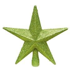 Décorations de sapin de Noël etoiles verts