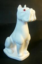 Vintage GREAT DANE Dog White Salt Sculpture Norleans Hand Made in Italy