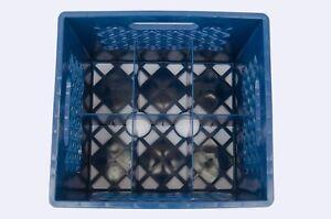 Plastic Crate for Glass Milk Bottles, Commercial Duty