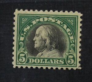 CKStamps: US Stamps Collection Scott#524 $5 Franklin Mint H OG
