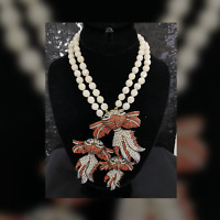 SIGNED SPECTACULAR HEIDI DAUS Reel McKoi Crystal Accented Double Strand Necklace