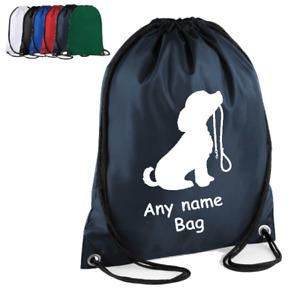 Dog PERSONALISED Drawstring backpack holiday bag brushes toys towels ORGANISER