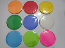 Large 3-inch Blank Pinback Button, Multiple Colors Available, NEW