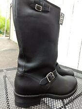 Double H Leather Tall Biker New Boot Motorcycle S-Toe Made in Usa Nib Dead stock