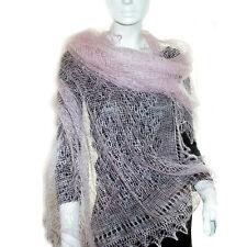 Chale Etole russe couleur rose, Cadeau original Femme, Etole Chale Rose tricotee