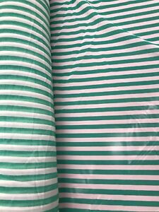 Striped Georgette Fabric by the Yard - Green