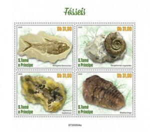 St Thomas - 2020 Fossils, Armigatus, Elrathia - 4 Stamp Sheet - ST200504a