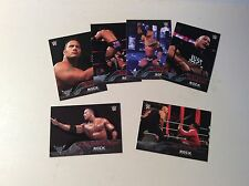 The Rock Tribute inserts from 2016 WWE Topps Products 6 card lot