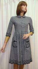 Robe style années 50 manches trois quart MANOUSH  à carreaux vichy  taille 36