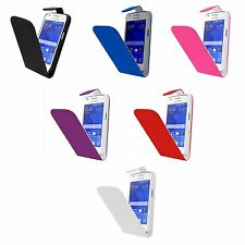 CASE FOR SAMSUNG GALAXY ACE 4 FLIP PU LEATHER VARIOUS COLOUR POUCH PHONE COVER