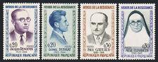 Francia 990-993, MNH Heroes Of Segunda Guerra Mundial: Renouvin, Dubray, Gateaud