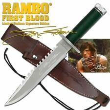 RAMBO FIRST BLOOD Sylvester Stallone Signature Licensed JUNGLE SURVIVAL KNIFE