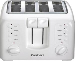 NEW CUISINART CPT142 ELECTRIC WHITE 4 SLICE 9 SETTING TOASTER 3569266