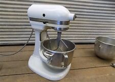 Kitchen Aid Stand Mixer Hobart 10 Speed Model K5-A Bowls 2 Attachments Vintage