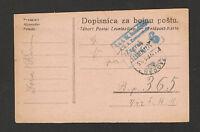 WWI-AUSTRIA-CROATIA-HUNGARY-MYLIARY POSTACRD-FELDPOST-CENSORSHIP, ZAGREB 6