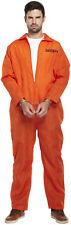 ORANGE PRISON Overall Convict Jumpsuit Men Fancy Dress Stag Do Halloween Costume