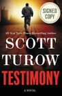 Scott Turow Testimony book hard cover signed autographed