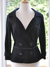 MSRP $158 NWT BEAUTIFUL CACHE DOUBLE BREASTED  BLACK S/M JACKET