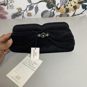 Lulu Guinness Women's Peron Clutch/ Black/Satin/Defective/(Box-62)