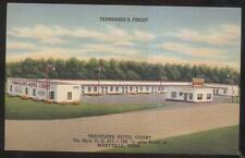 Postcard MARYVILLE Tennessee/TN  Travelers Tourist Motel Motor Court view 1930's