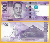 Philippines 100 Piso p-222 2017 UNC Banknote