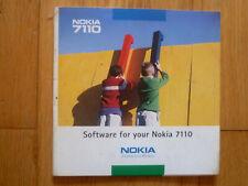 NOKIA 7110 MOBILE PHONE - ORIGINAL GENUINE CD SOFTWARE DISC - 1999 - USED.