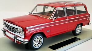 LS Collectibles 1/18 Scale Model Car LS037H - 1979 Jeep Grand Wagoneer - Red