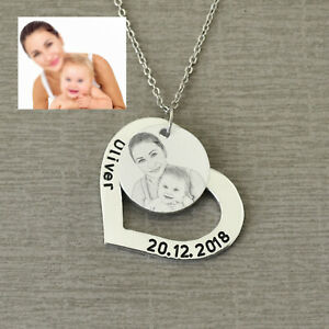 Custom Photo Necklace Personalised Picture Necklace Heart Necklace Gift for Mom