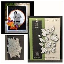 Fall Leaf Collage metal die Poppystamps dies 1562 autumn oak maple birch leaves