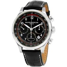 Baume & Mercier Men's Capeland 42mm Black Leather Band Automatic Watch 10084