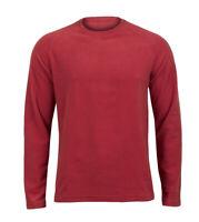 Mens Soft Fleece Sweatshirt Long Sleeves Shirt Winter Crew Neck Sportswear Top
