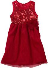 Tüllkleid mit Pailletten Gr. 116 Rot Kindermode Mädchen-Kleid Dress Neu