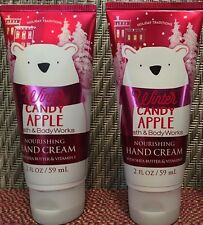 2 Bath Body Works Winter Candy Apple NOURISHING HAND CREAM SHEA BUTTER Vitamin E
