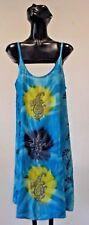 NWT Sacred Threads Rayon Tie Dye Beads Embroidery Bohemian Dress Sundress One Sz