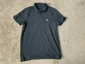 New Men's Abercrombie & Fitch charcoal polo size medium