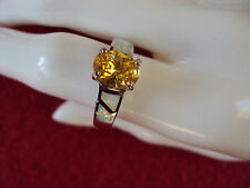 Genuine Citrine opal .925 Sterling Silver 3.80ctw ring size 8 DAD-980-983