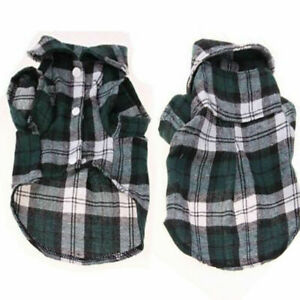 Cute Pet Cat Dog Plaid Shirts Clothes for Puppy Chihuahua Summer Vest T shirts#