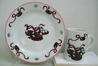 Home for the Holidays Geese a-Laying Christmas Snack Plate & Mug by E.D.I.