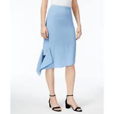 Anne Klein Skirt Size 16 Blue Pencil Asymmetrical New SISLOU B28