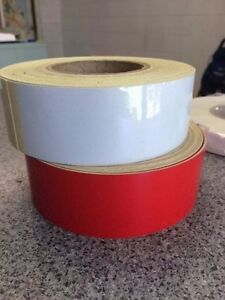 flagging tape reflectorized 50mmx47m RED (1) roll