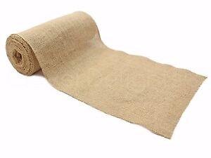 "9"" Premium Burlap Roll - 10 Yards - Finished Edges - Natural Jute Burlap Fabric"