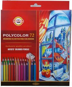 Coloured pencils POLYCOLOR KOH-I-NOOR 72 colours 3837 IN box