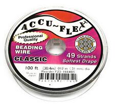 100' Accuflex steel beading wire 49 strand .012 inch