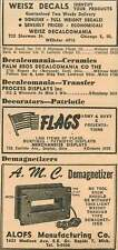 1946 Weisz Decalcomania Chicago Sherman Street Alofs Demagnetizer Ad
