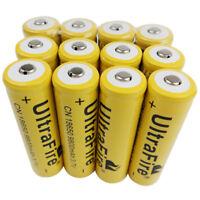 12X Piles 18650 Batterie 9800mAh Rechargeable 3.7V Li-ion Battery for Flashlight