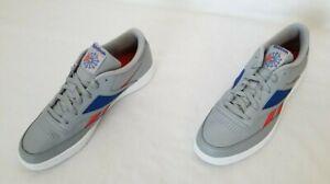 Men Sz 11.5 Grey Blue Red Reebok Club C Revenge Mark Vector Logo Sneakers EF7864