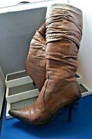 VEESY SMART BROWN LEATHER FLEECE LINED WINTER BOOTS UK 5 EU 38 US 7