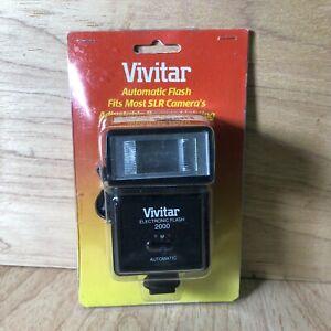 Vivitar 2000 Shoe Mount Electronic Flash  New Open Box SLR Camera Automatic